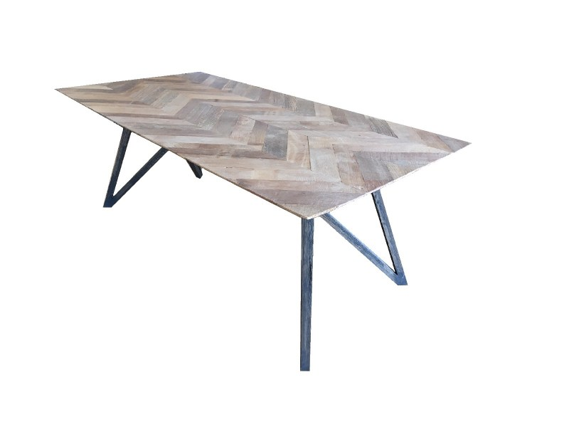 SPIDER TABLE TEAK FISHBONE 2.00X1.00X76CM